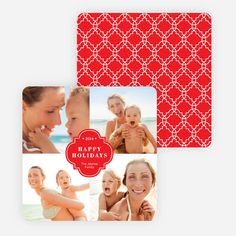 Family Crest Holiday Photo Cards from Paper Culture