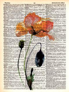 Book Page Art, Book Art, Poster Wall, Poster Prints, Art Prints, Art Vintage, Vintage Posters, Journal D'art, Newspaper Art