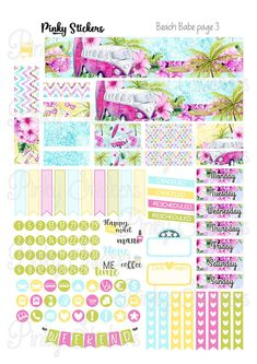 This is a weekly kit for Erin Condren Life Planner or other planners that have boxes measuring 1.5 x 1.9 inches. It is a digital file meaning that you can download it and no physical product will be shipped to you. All my printable stickers include blackout files for easy tracing in