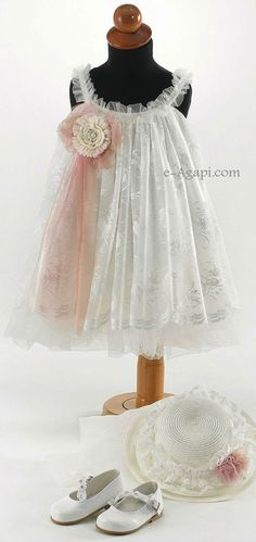 Baby girl baptism dress * Vintage Christening dress * Lace wedding flowergirl Greek set special ocasion Girl cream greek outfit - opt shoes