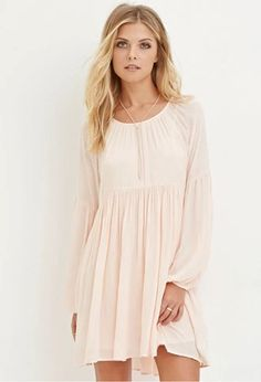 Contemporary Pleated Chiffon Dress | Forever 21 #spring
