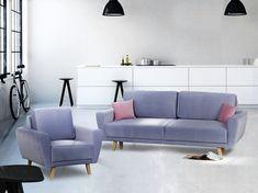 Canapea extensibila Asti Blue #homedecor #inspiration #livingroom #decor #decoration Love Seat, Couch, Blue, Furniture, Home Decor, Settee, Decoration Home, Sofa, Room Decor