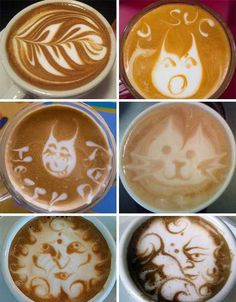 Learn how to make a latte art easter...