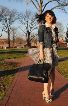 My polka dot fixation will obviously carry over into Spring. Love the stripey shoes too!