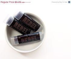 New to ParloCosmetics on Etsy: SALE REBEL / All Natural Tinted Lip Balm -- Choose Your Flavor -- Deep Deep Redish Black / Gifts for Her (3.15 USD)