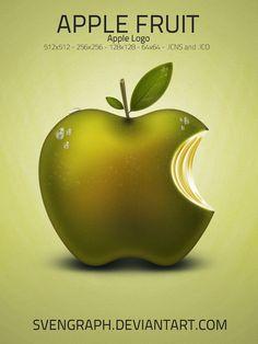 Svengraph. Apple fruit.