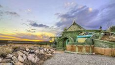 """Off-The-Grid Earthship """"A family of four could totally survive here without having to go to the store."""""""