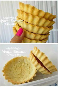 🍮 Massa para Torta Doce de Amêndoas - / 🍮 Pastry for Almond Pie - My Recipes, Sweet Recipes, Cooking Recipes, Favorite Recipes, Portuguese Desserts, Portuguese Recipes, Menu Brunch, Good Food, Yummy Food