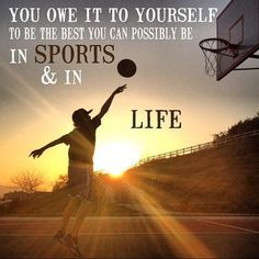 """""You owe it to yourself to be the best you can possibly be in #sports and in #life >>> @sportsbarker #quotes #dailyquote #motivation #inspiration #basketball"" Photo taken by @sportsbarker on Instagram, pinned via the InstaPin iOS App! http://www.instapinapp.com (03/16/2016)"