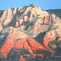 Sedona Mountain - original acrylic painting on canvas by Paul Winters.