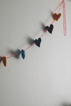 Stuffed Heart Banner DIY