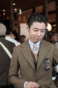Tweeds in Tokyo menswear tie jacket