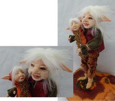 Tic n' Tac Elf Father & Son OOAK Fairy Fairies Sculpture Art Doll Posable NEW #handmade