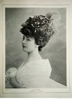 """Genevieve """"Ginette"""" Lantelme (1887-1911). A French actress, socialite and courtesan. Theatregoers savoured her reputation for enjoying the bodies of men and women with equal pleasure: her languid slouch was imitated by other Parisian vamps."""