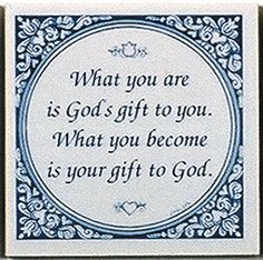 Magnet Tiles Quotes: God's Gift To You    The most popular pin!!!