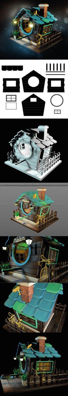 BirdHouse #birdhouse #3d #c4d #cinema4d