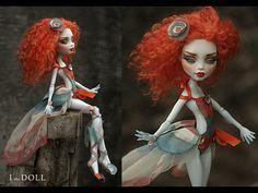 Monster High Repaint Art Doll OOAK – Lagoona   Vanda   Innocence - the secret love potion www.etsy.com/listing/225449459/monster-high-repaint-art-d...