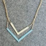 diy chevron necklace