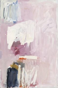 Sylvia McEwan - Blue on Pink Abstract