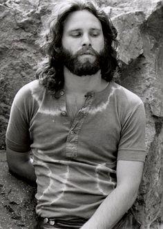 Jim Morrison photographed by Edmund Teske at the Bronson Caves, 1969.