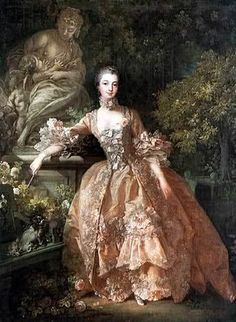 Madame de Pompadour, mistress of Louis the 15th of France. She was an able leader and an extremely influential power behind the throne. Her relationship with the king lasted until her death. She was skilled at politics, botany, architecture, drama and music.
