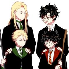 ITS COME TO A FFING POINT IN FANART THAT I CANT SEEM TO TELL WHETHER ITS LUCIUS, DRACO OR SCORPIUS AND WHETHER ITS JAMES, HARRY OR ALBUS