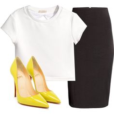 Untitled #314 by bthorne on Polyvore featuring H&M and Christian Louboutin