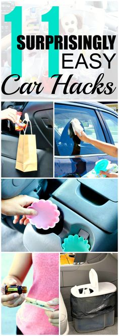 File this under: life hacks. Spring is here, or at least for some of us, and that means lots of cleaning. We've rounded up ten more easy life hacks that aim … Organisation Hacks, Diy Organization, Diy Car Cleaning, Cleaning Products, Diy Auto, Clean Your Car, Clean Clean, Cleaning Painted Walls, Car Hacks