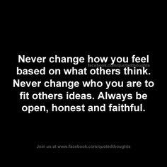 Never change...