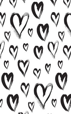 B&W Hearts ★ Find more Funky Patterns for your #iPhone + #Android @prettywallpaper More