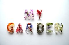 Beautiful Floral Patterns Submerged in Typographic Ice Cubes - My Modern Metropolis