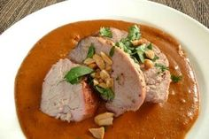 Rick Bayless' Smoky Peanut Mole Recipe with Pork Tenderloin
