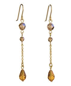 Take a look at this Annaleece Gold & Amber SWAROVSKI ELEMENTS Elegance Earrings on zulily today!