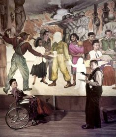 Frida E Diego, Diego Rivera Frida Kahlo, Famous Artists, Great Artists, Ecole Art, Mexican Artists, Art Studios, Artist At Work, Les Oeuvres