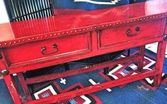 THIS IS A NEW RUSTIC RED SOFA TABLE FOR FALL! TONNI BRADEN YUMA, AZ