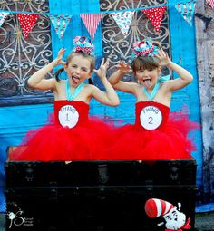 Thing 1 or Thing 2 Costume....Thing 1 or Thing 2 Tutu Dress...Halloween Costume for Twins