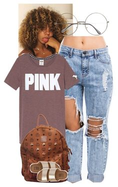 """""""PINK!?"""" by fightnight ❤ liked on Polyvore featuring MCM and Billabong"""