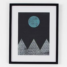Minted for west elm - Blue Moon Over Mountains