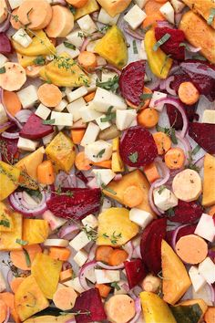Easy Recipe for Oven Roasted Vegetables with Sage and Thyme from Jeanette's Healthy Living