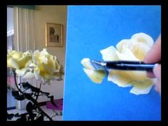 How to Paint Yellow Roses, by Marjorie Harris Clark. It's disgusting how simplistic the idea is and that I'm just finding out! ;)