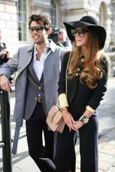 ♔ Janae's and Her Better Half Style!--The Made in Chelsea cast at London Fashion week. Classy Outfits, Fall Outfits, Fashion Outfits, Womens Fashion, Fashion Hats, Fashion Edgy, Fashion Black, Ladies Fashion, Sneakers Fashion