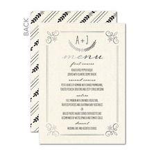 Rustic Wreaths Wedding Menu Cards