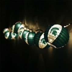 Michigan State Spartans Team Lanterns & Lights Set