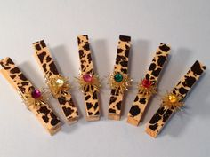Animal Diva, Decorative Clothes Pins, Banner, Office Decor, Wooden Paper Clips, Christmas Tree, Clip On Ornament, PAFA. $2.50, via Etsy.