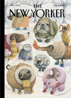 """One of my favorite New Yorker covers from last year called """"Baby it's cold outside"""""""