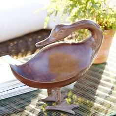 Birch Lane™ Bronze Duck Friend Statue II & Reviews | Wayfair