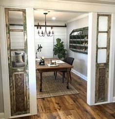 Old French doors as Windows