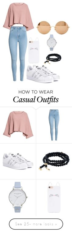"""#casual"" by christinanaing on Polyvore featuring Free People, H&M, adidas Originals, Tamara Comolli, Forever 21, Victoria Beckham and Olivia Burton"