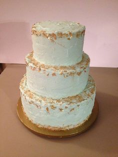 Sea foam wedding cake