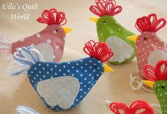 free fabric chicken potholder pattern | Tutorial: Chicken Easter egg covers